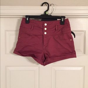 Charlotte Russe Burgundy Colored Shorts